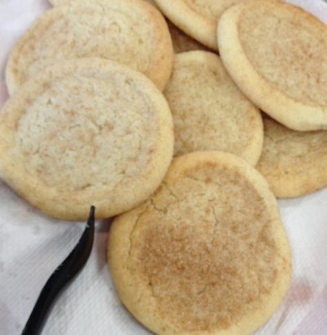 Snickerdoodles, too.  Someone even sprinkled cinnamon on them.